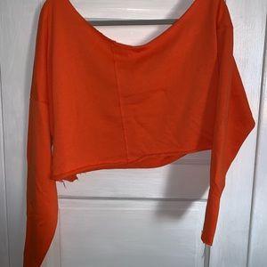 Orange crop sweater